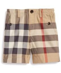 Burberry「Burberry 'Mini Scout' Check Shorts (Toddler Boys)(Pants)」