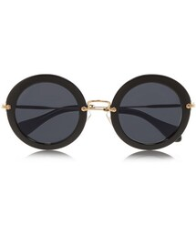 Miu Miu「Miu Miu Round-frame acetate sunglasses(Sunglasses)」