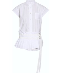 Sacai「Sacai Pleated cotton-poplin shirt(Shirts)」