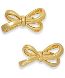 Kate Spade「kate spade new york Gold-Tone Bow Stud Earrings(Pierces (both ears))」