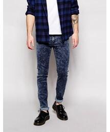 Cheap Monday「Cheap Monday Jeans Tight Skinny Fit Blue Blitz Acid(Denim pants)」