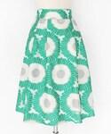 DHOLIC | ヒマワリモチーフフレアミディスカート(スカート)