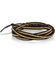 Chan Luu「Chan Luu Gold-plated and leather five wrap bracelet(Bracelet)」