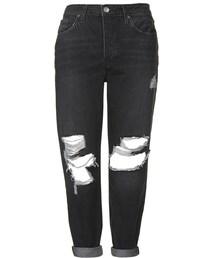 Topshop(トップショップ)の「Moto black ripped hayden jeans(デニムパンツ)」