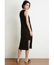 Forever 21「FOREVER 21 Side-Slit Midi Dress(One piece dress)」