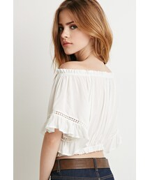 Forever 21「FOREVER 21 Off-the-Shoulder Peasant Top(Shirts)」