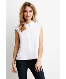Forever 21「FOREVER 21 Pleated-Back Shirt(T Shirts)」