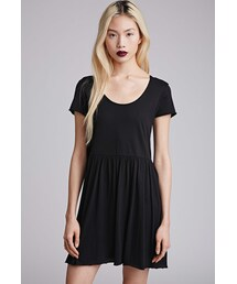 Forever 21「FOREVER 21 Raw-Edged Smock Dress(One piece dress)」