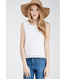 Forever 21「FOREVER 21 Cutout Daisy Crochet Top(T Shirts)」
