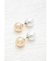 Forever 21「FOREVER 21 Faux Pearl Duo Studs(Pierces (both ears))」