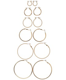 Forever 21「FOREVER 21 Graduated Twisted Hoop Set(Pierces (both ears))」