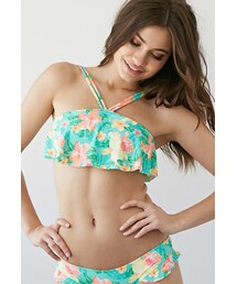 Forever 21「FOREVER 21 Tropical Floral Flounce Bikini Top(Swimwear)」