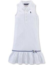 Ralph Lauren「Ralph Lauren Girls' Ruffled Polo Dress(One piece dress)」