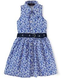 Ralph Lauren「Ralph Lauren Little Girls' Floral Poplin Dress(One piece dress)」