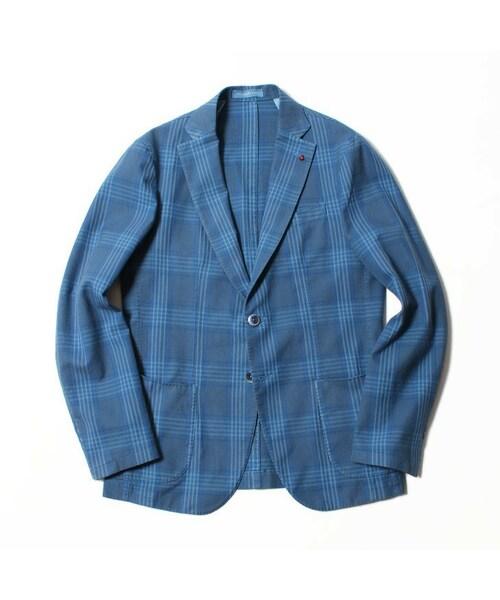 【FUGATO/フガート】 チェック柄コットン2Bジャケット/FIRENZE