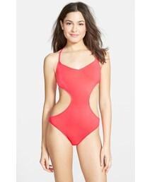 Billabong「Billabong 'Sol Searcher' Cutout One-Piece Swimsuit (Juniors)(Swimwear)」