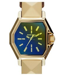 Diesel「DIESEL® 'Z Back Up' Iridescent Crystal Leather Wrap Watch, 23mm(Watch)」