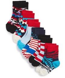 Happy Socks「Happy Socks 'Zebra Mixed' Pattern Socks (6-Pack) (Baby)(Socks)」