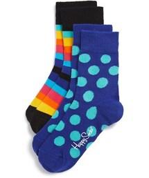 Happy Socks「Happy Socks Stripe & Polka Dot Socks (2-Pack) (Toddler)(Socks)」