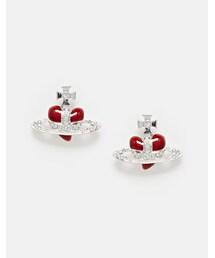 Vivienne Westwood「Vivienne Westwood Diamante Heart Stud Earrings(Pierces (both ears))」