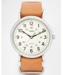 TIMEX | Timex Watch Weekender Leather Strap Watch T2P492(Watch)