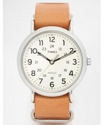 Timex「Timex Watch Weekender Leather Strap Watch T2P492(Watch)」
