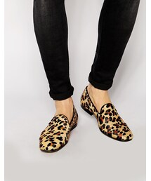 Asos「ASOS BRAND ASOS Loafers in Leopard Skin Effect(Other Shoes)」