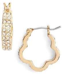 Marc by Marc Jacobs「MARC BY MARC JACOBS 'Diamonds & Daisies' Pavé Flower Hoop Earrings(Pierces (both ears))」