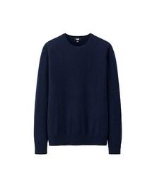 ユニクロ(ユニクロ)の「MEN カシミヤクルーネックセーター(長袖)(ニット・セーター)」