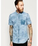 Dr. Denim「Dr Denim Shirt Jon Washed Out Pocket Blue Smoke(Shirts)」