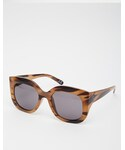 Asos | ASOS COLLECTION ASOS Oversized Sunglasses In Wood Effect(Sunglasses)