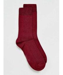 Topman「Premium Burgundy Rib Socks(Socks)」