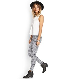 Forever 21「FOREVER 21 Geo Print Leggings(Leggings)」