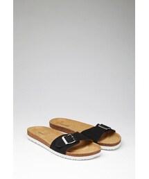 Forever 21「FOREVER 21 Buckled Faux Suede Sandals(Other Shoes)」