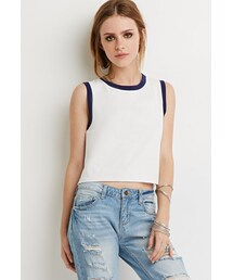 Forever 21「FOREVER 21 Contrast-Trimmed Tank(Tank tops)」