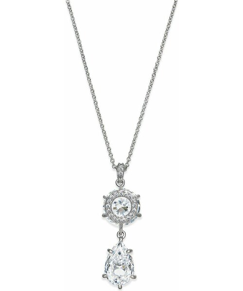 Kate spade eliot danori rhodium plated crystal teardrop eliot danori rhodium plated crystal teardrop pendant necklace mozeypictures Choice Image