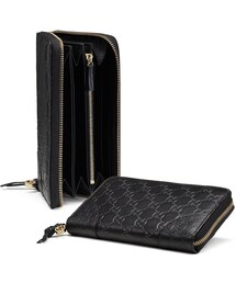 Gucci「Gucci Bree Guccissima Leather Zip Around Wallet, Black(Wallet)」