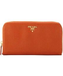 Prada「Prada Saffiano Zip-Around Wallet, Orange (Papaya)(Wallet)」