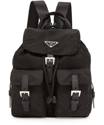 Prada「Prada Vela Small Nylon Backpack, Black (Nero)(Backpack)」