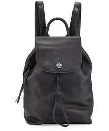Tory Burch「Tory Burch Brody Pebbled Leather Backpack, Black(Backpack)」