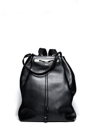 The Row「THE ROW Backpack 11 Leather Hobo Bag, Black(Backpack)」