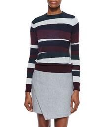 Carven「Carven Mosaic-Striped Merino Pullover(Knitwear)」