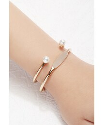 Forever 21「FOREVER 21 Faux Pearl Cuff Set(Bracelet)」