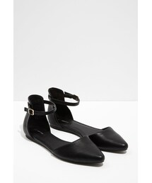 Forever 21「FOREVER 21 Pointed Ankle-Strap Flats(Other Shoes)」
