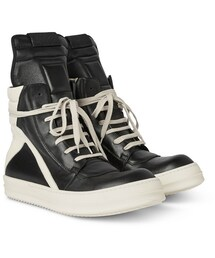 Rick Owens(リックオウエンス)の「Panelled Leather High-Top Sneakers(シューズ)」