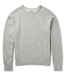 Acne Studios「Acne Studios College Loopback Cotton-Jersey Sweatshirt(Sweatshirt)」