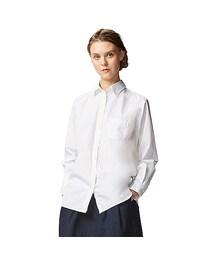 ユニクロ(ユニクロ)の「WOMEN エクストラファインコットンボーイフレンドシャツ(長袖)C(シャツ・ブラウス)」