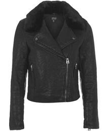 Topshop「Faux leather biker jacket(Riders jacket)」