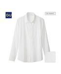 GU | (GU)ウォッシュブロードシャツ(長袖)(WOMEN⁄シャツ・ブラウス)