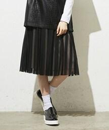 AULA AILA(アウラ アイラ)の「Aula  Aila 『STRIPE TULLE』スカート(スカート)」